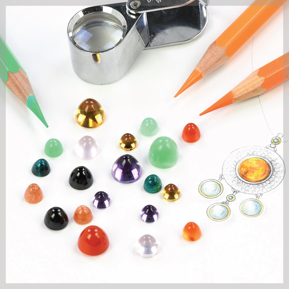 Bullet shaped high dome cabochons