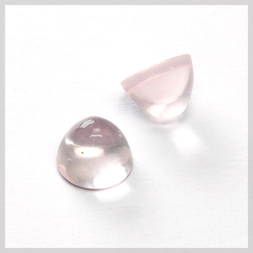 Rose Quartz bullet shaped high dome cabochons