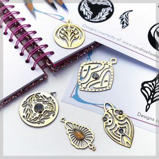 Art Nouveau saw piercing template pack