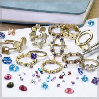 Brass rings for practice stone setting