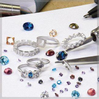 Sterling silver bezel setting practice rings