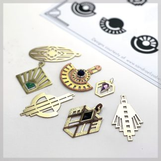 Art Deco saw piercing template pack
