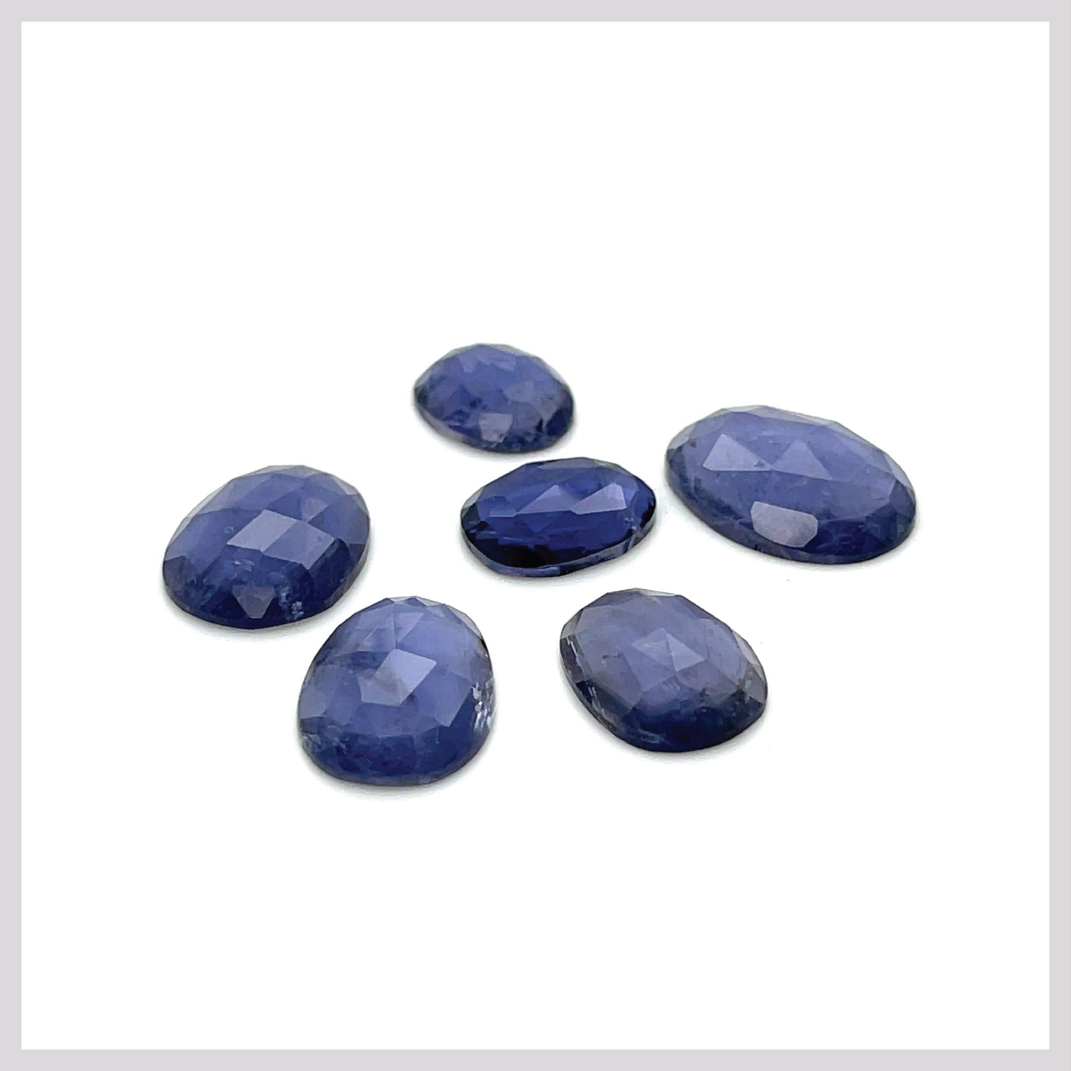 Iolite Rose Cut Gemstones (20ct Lot)