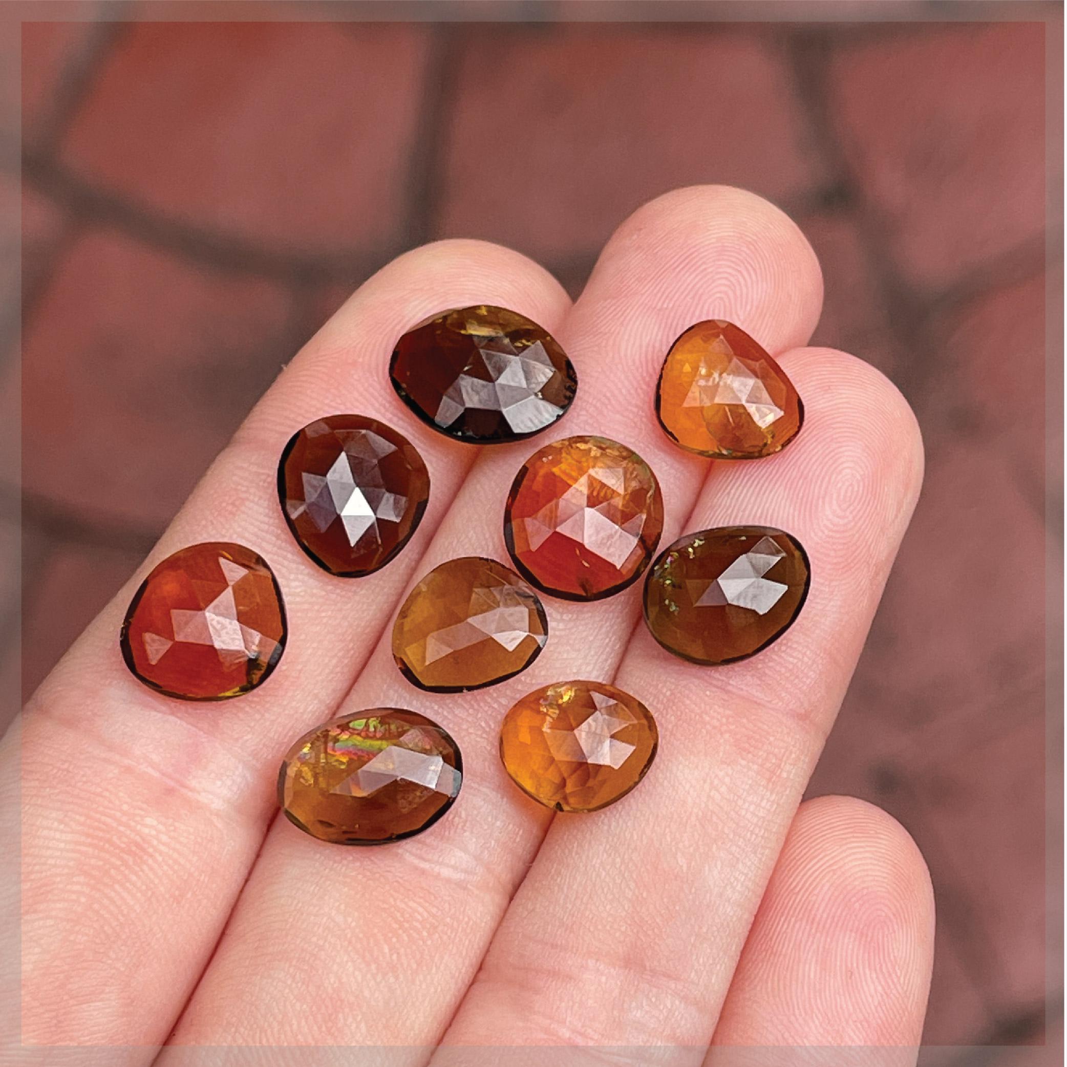 Tourmaline Rose Cut Gemstones (20ct Lot)